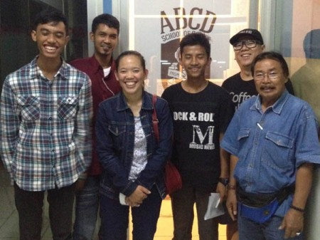 Left to Right: Nugie, Dayat, Nina, Ilham, Phat Uncle, and Mr. Roby from S.O.S. Children's Village.